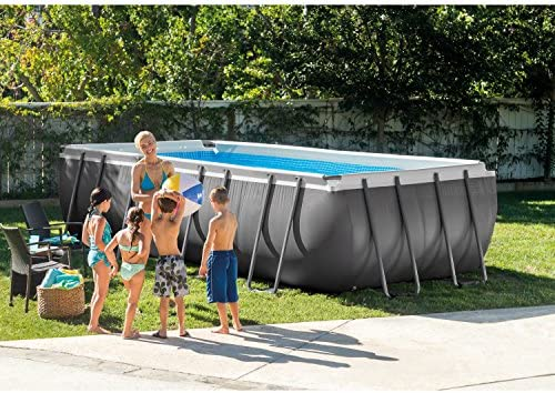 Intex Piscina Rectangular Ultra Frame Set, 18 pies por 9 pies por ...