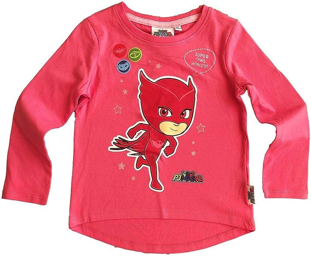 Langarm Fuchsia M/ädchen Pyjamasques T-Shirt
