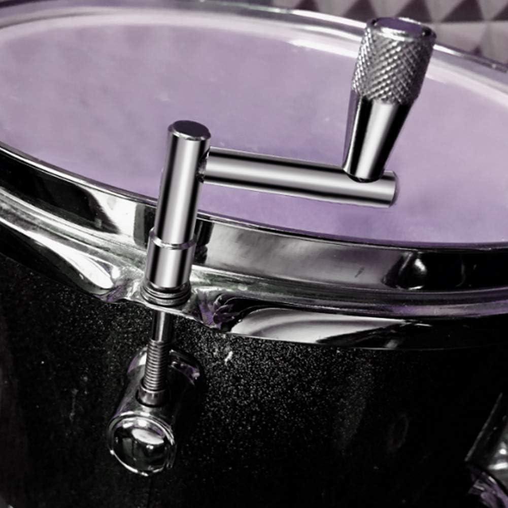 Drum Key 4 Pcs Chrome Plated Steel Universal Drum Key Tuning Tools Square Socket Accessory