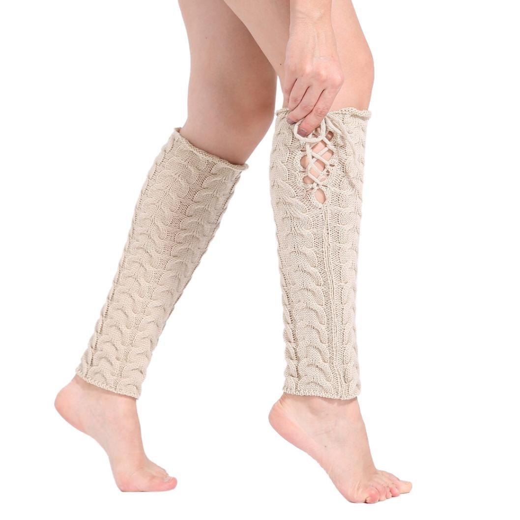 GoodsatarMujeres Invierno cálido Calentadores de piernas Cable de ...