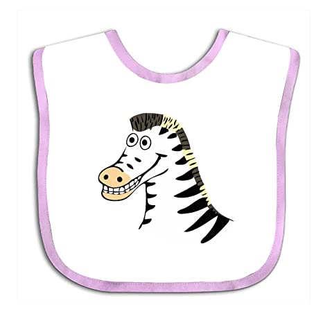Zebra Clip Art Babero para bebé, diseño de babero, toalla de algodón suave,
