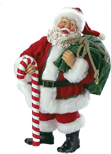 Kurt Adler Fabriche Santa Holding Bag, 10-Inch
