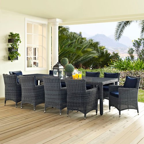 lexmod-summon-11-piece-outdoor-patio-sunbrella-dining-set-canvas-navy