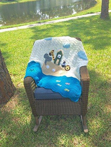 Crochet Noah's Ark Baby Blanket or Wall Hanging
