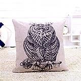 Pillow Elephant Rhino Owl Giraffe Pillow Pillow Cushion Cotton Linen Printing Animal Cushion Sofa Decorate Cushion Car Pillow Nap,A4,4545Cm