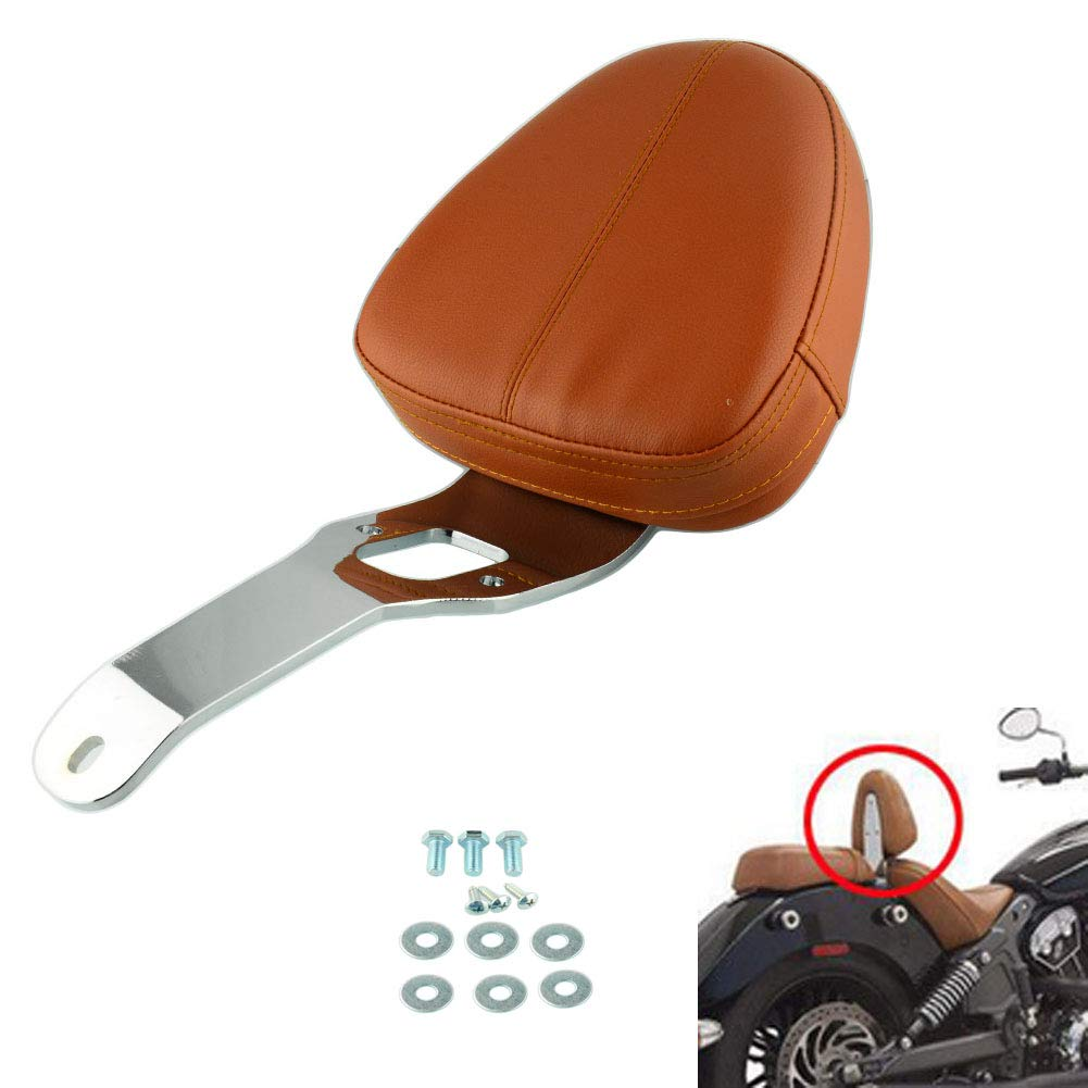 For Indian Motorcycle Sissy Bar Pad Driver Backrest Support Chrome For Indian Scout Sixty 2016 2017 2018 Scout 2015-Up leather