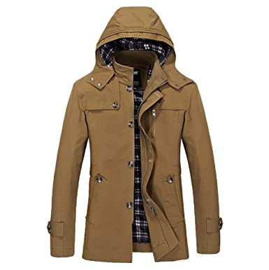 32b65865f460 Herren Steppjacke Übergangsjacke Jacke mit Kapuze Winterjacke Herbst und  Winter FRAUIT Männer Junge Kleidung Sweatshirt Pullover Jacke Sweatjacke ...