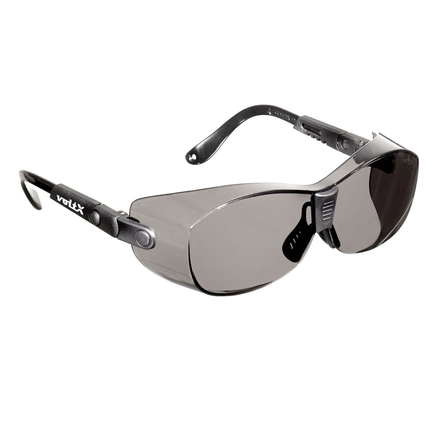 voltX 'RETRO SAFETY OVERGLASSES' – Suitable as FITOVERS for SMALL/MEDIUM size spectacle frames – Can also be worn as regular safety glasses. CE EN166ft certified (Clear Lens) StraightLines