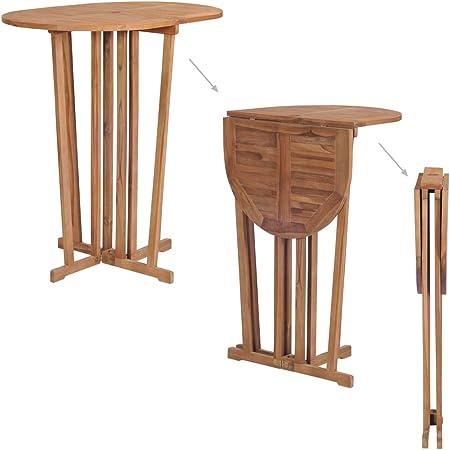 Tidyard Table Haute de Bar Pliable | Table de Cuisine ...