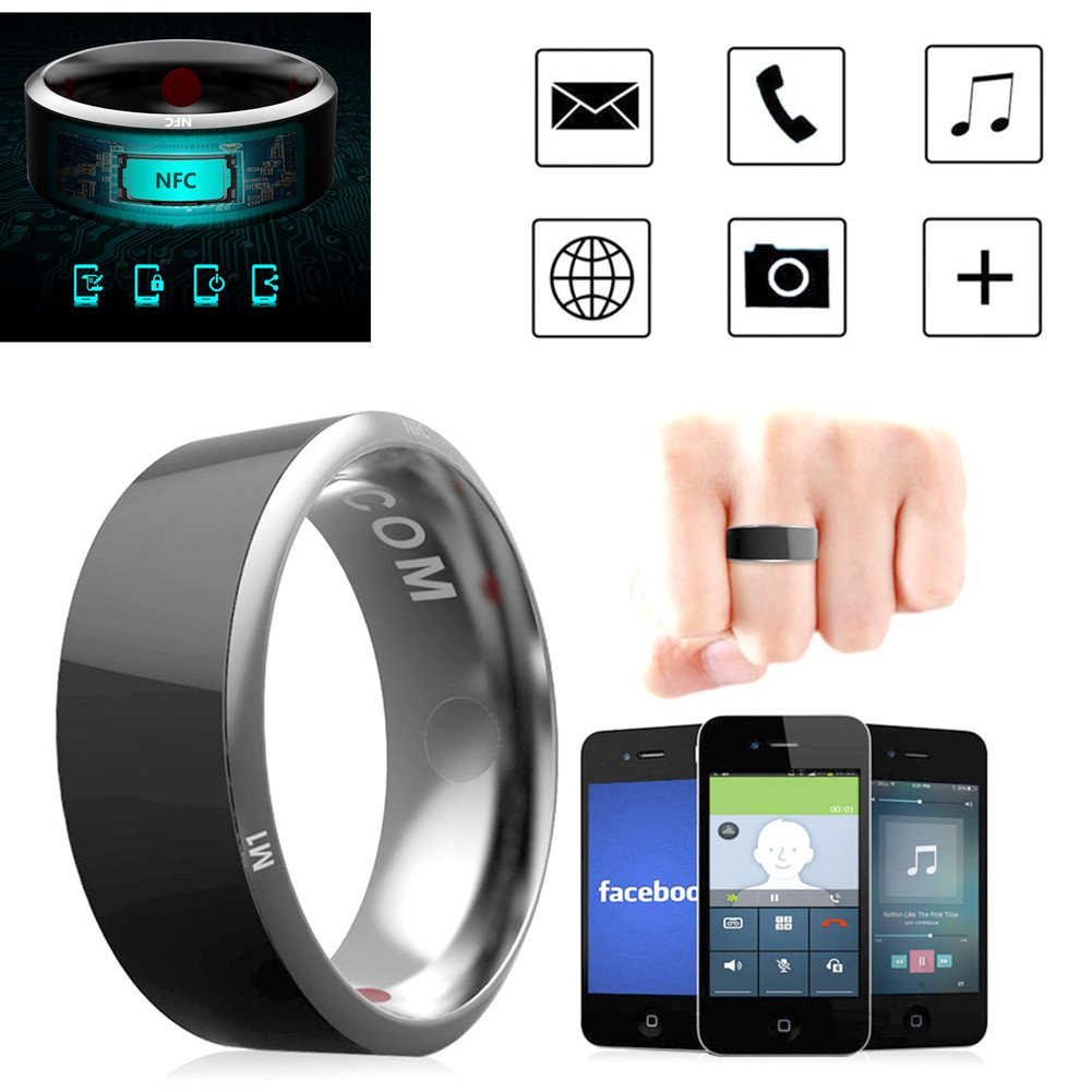 Leagway R3 Smart Ring, Waterproof Dust-proof Fall-proof Smart Ring For Android Windows NFC Mobile Phone, Multifunction Magic Finger Ring for Samsung Xiaomi HTC LG Sony Motorola Nokia (#12)