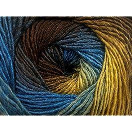 (1) 100 Gram Primadonna Treasure Chest Wool Blend Self-Striping Yarn, Fine/Sport Weight