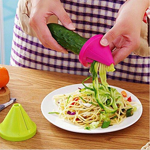 Gadget Funnel Model Vegetable Shred Device Spiral Slicer Carrot Radish Cutter Kitchen Tool Random Color