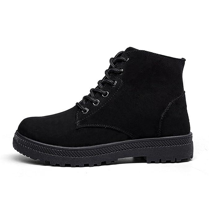 Mujer Botas Zapatos Invierno Botas, Gracosy Nieve Calentar Botines Planos lana interno antideslizantes Sintética para Cálido y cómodo Cordón-Arriba ...