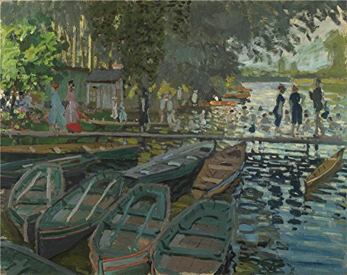 Oil Painting 'Claude-Oscar Monet - Bathers At La Grenouillere,1869' 18 x 23 inch / 46 x 58 cm , on High Definition HD canvas prints is for Gifts And Basement, - Vero At Outlets Beach