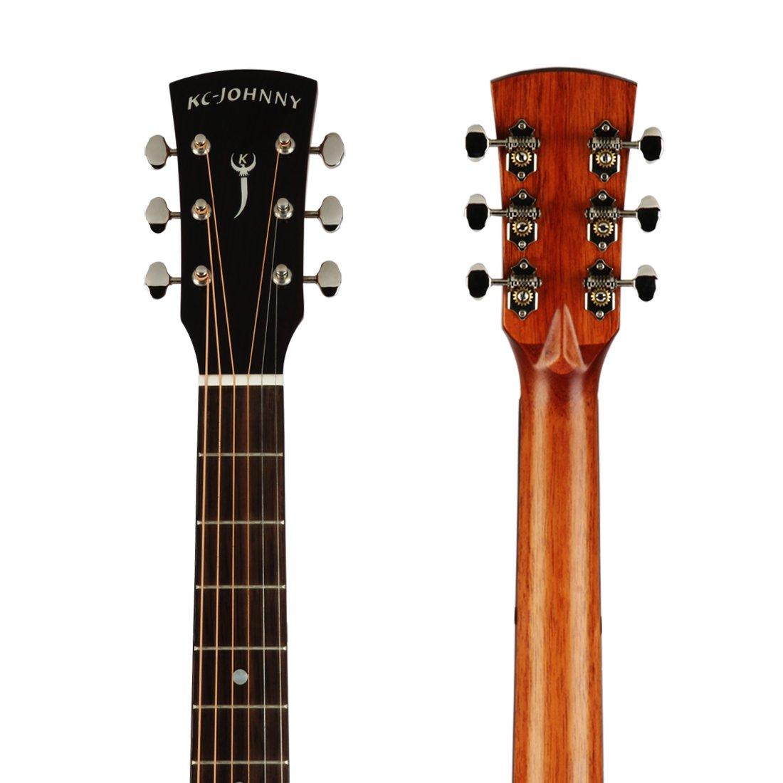 kc-johnny kc-dm-41050 de guitarra acústica tamaño completo, 41 ...
