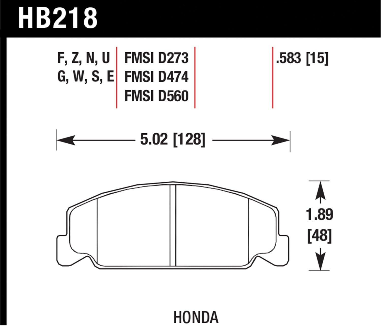 Hawk HB218B.583 Brake Pad