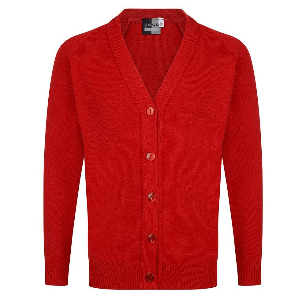 Zeco School Uniform Girls Knitted Cardigan