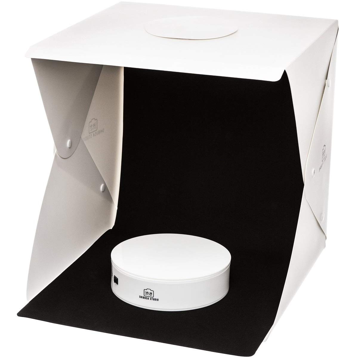 Shibusa Home Photo Studio Lightbox with Bonus 360° Turntable (Large)