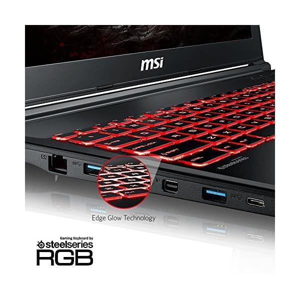 """MSI GL62M 7REX-1896US 15.6"""" Full HD Gaming Laptop Computer Quad Core i7-7700HQ, GeForce GTX 1050Ti 4G Graphics, 8GB DRAM, 128GB SSD + 1TB Hard Drive, Steelseries Red Backlit Keyboard 3"""