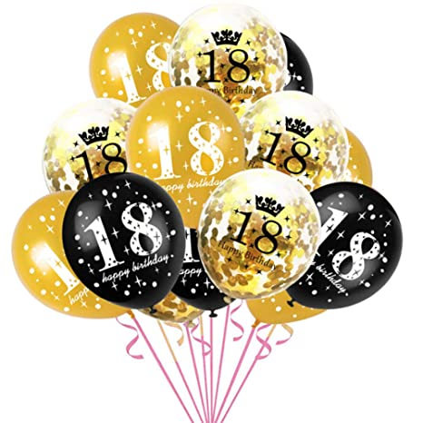 Haihuic 18 cumpleaños Globos de Decoracion, 15 Piezas de ...