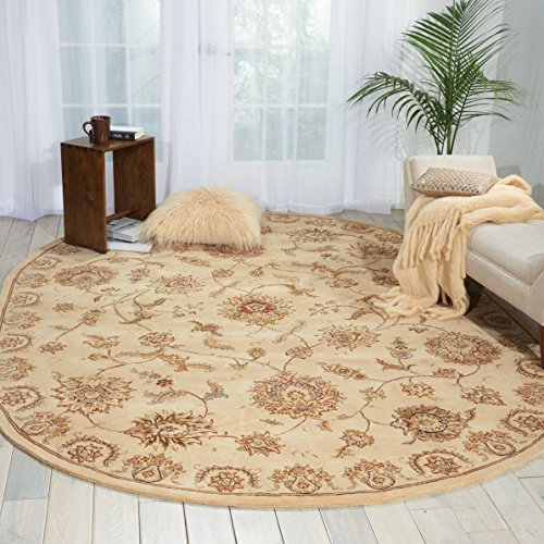 Nourison Nourison 2000 (2421) Beige Oval Area Rug, 7-Feet 6-Inches by 9-Feet 6-Inches (7'6