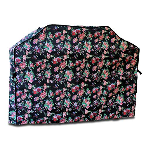 - Finelady Grill Cover - Heavy Duty 600D Waterproof - 55-inch to 58-inch - Gas Grill Cover, BBQ Cover - Best for Most Brands like Weber, Char Broil, Brinkmann etc - Floral Rose Patterned Design