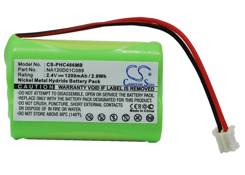 Cameron Sino 1200mAh NI-MH Rechargeable Baby Monitor Batteries Replacement for Philips NA120D01C089 310412893522 ((2.4V NIMH 1200mAh)) by Cameron Sino®