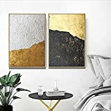 Handser DIY 5D Diamond Painting Full Drill Round Diamond Embroidery Painting Cross Stitch Paint By Number Kits Grey Black Golden Color Lump Abstract Computer Graphic (Picture Size:11.8x16.5inch)