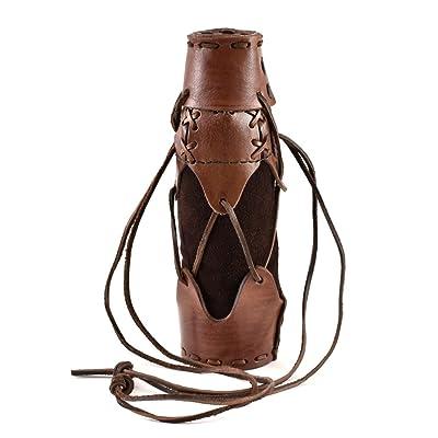 geschnürter Porte-bouteille en cuir pour Flacon d'extérieur 500ml bouteille d'eau Couleurs assorties