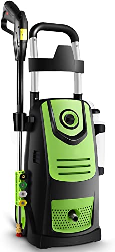 Suyncll 3800 PSI 2.8GPM Electric Pressure Washer Electric Power Washer with Soap Bottle Green