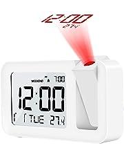 """TedGem Despertador, Reloj Despertador Digital Despertador Proyector Despertadores Digitales Pantalla LCD de 3.8"""", 4 Brillos, 9 Min Posponer, 2 Sonidos Alarma, para Dormitorio, Oficina, Cocina"""