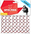 Hawwwy Spiral Bobby Pins 8 Pack Spin Pins, Easy & Fast Bun Maker Twist Hair Pins for Women Kids, Updo Hair Accessories, Messy Bun Tool, Perfect Small Bun Bobbypins Bobbie Cute (Rose Gold 2.5 Inches)