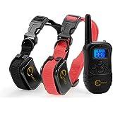 Esky Dog Training Collar Rainproof Rechargeable LCD Shock Collar, 100 Level Vibration Static Shock