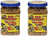 (2 Pack) Zoo Med Large Sun-dried Red Shrimp 10oz Each