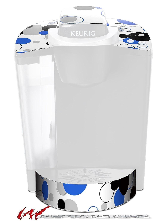 たくさんのドットブルーonホワイト – デカールスタイルビニールスキンFits Keurig k40 Eliteコーヒーメーカー( Keurig Not Included )   B017AK0LTC