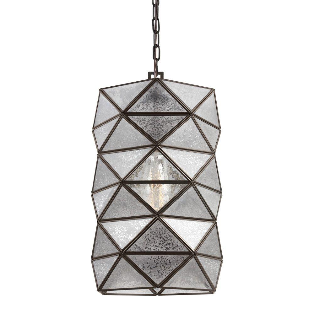 Sea Gull Lighting 6641401-782 Harambee One-Light Pendant with Mercury Glass, Heirloom Bronze Finish