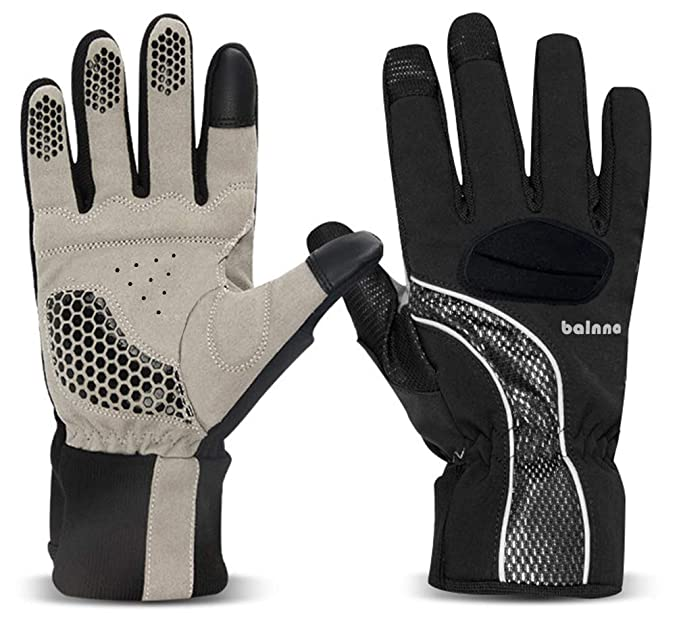 Balnna Mens Ski Gloves Multi-Functional Snowboard Gloves with 3M Thinsulate Touch Screen Waterproof Winter Gloves