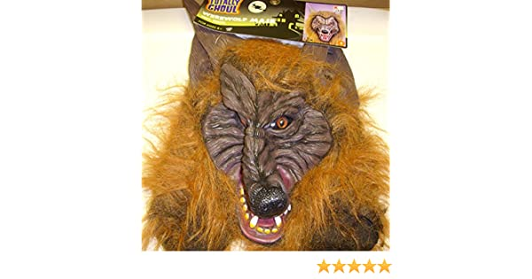 Amazon.com: Kmart - Totally Ghoul Werewolf Mask Brown Fur Costume ...