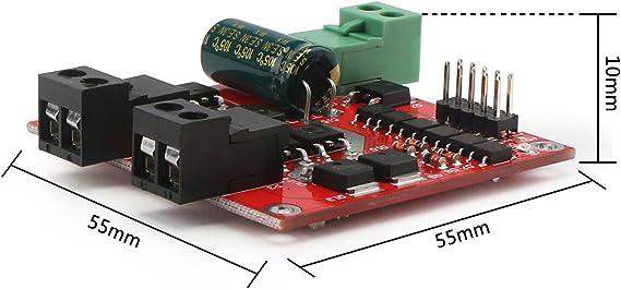 Module de Commande de Moteur CC 12V 24V Module de Commande de Moteur /électrique 12V 24V Double L298 avec contr/ôleur disolement de coupleur Droking Pilote Moteur DC