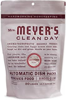 product image for Mrs. Meyer's Clean Day Automatic Dishwasher Pods, Cruelty Free Formula Dish Soap Tablets, Lavender Scent, 20 Count- Pack of 6