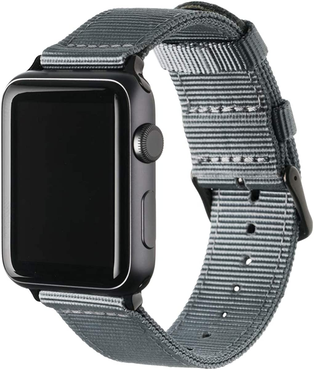 Archer Watch Straps - Premium Nylon Replacement Bands for Apple Watch | Mulitple Colors, 38/40mm, 42/44mm