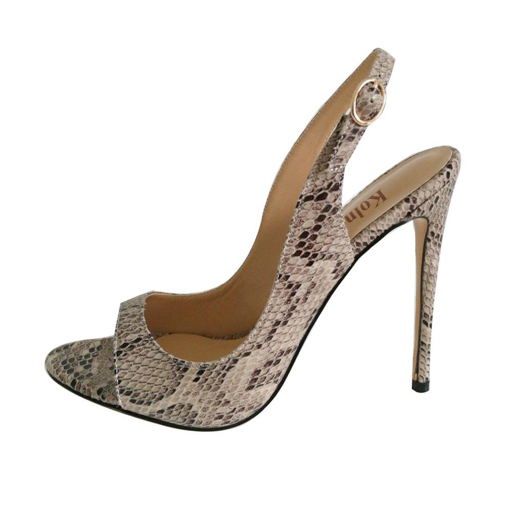 Kolnoo - Zapatos con tacón Mujer 37 EU / 7 US|Snakeskin