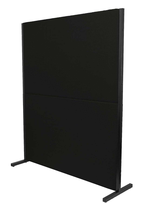 rimovibile e con struttura di colore nero/ PIQUERAS Y CRESPO Modello valdeganga/ /Imbottiti in tessuto ARAN colore: blu /Paravento divisorio per uffici e gli di lavoro