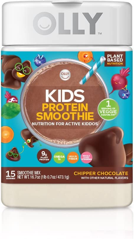 OLLY Kids Protein Powder, Plant-Based Protein, Chipper Chocolate