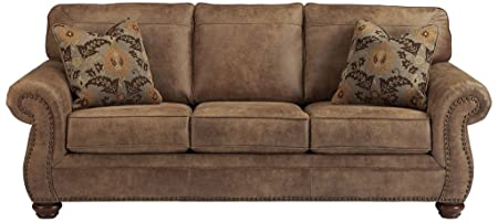 Review Ashley Furniture Signature Design - Larkinhurst Sofa - Contemporary Style Couch - Earth
