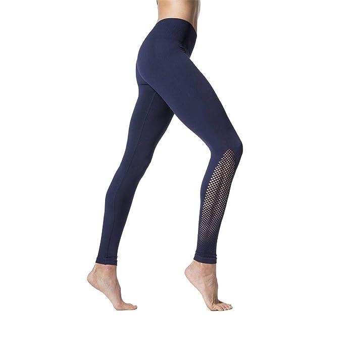 Amazon.com: Malla Fitness Yoga Pantalones Mujer Sexy Azul ...