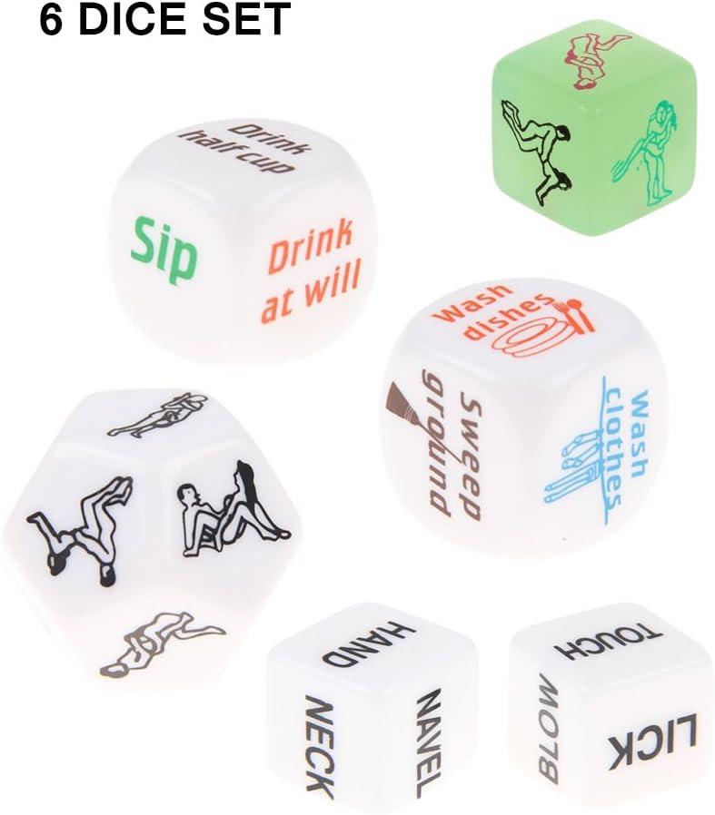 Isive Conjunto de Dados Eróticos para Parejas Adultas Cariño Amante Juego en Fiesta Paquete de 6 Diferentes Juegos: Amazon.es: Juguetes y juegos