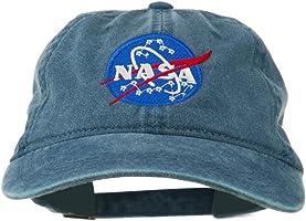 e4Hats.com NASA Insignia Embroidered Pigment Dyed Cap - Navy OSFM