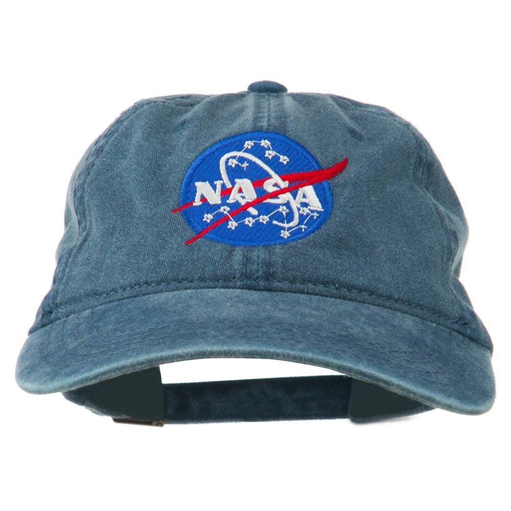e4Hats.com NASA Insignia Embroidered Pigment Dyed Cap - Navy OSFM na305mo-navy-osfm