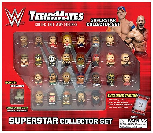 "TeenyMates WWE Superstar Collector Set, 27 WWE TeenyMates 1"" Figures by The Party Animal"